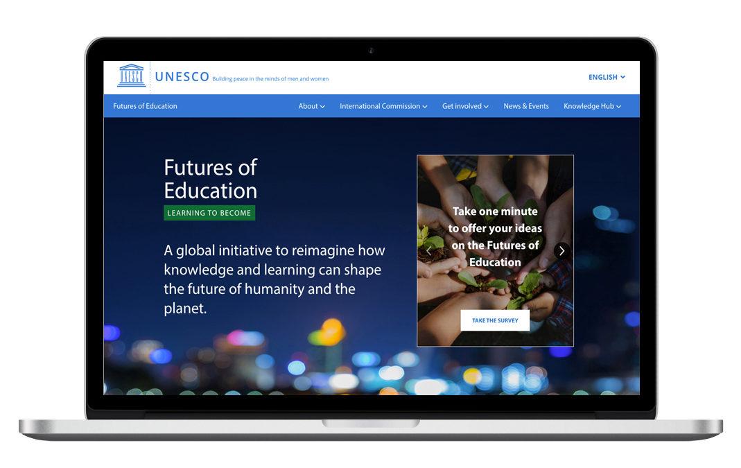 Site Web participatifUNESCO Futures of Education